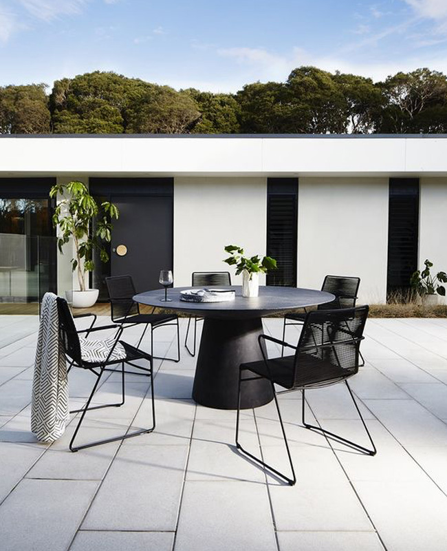 terrasse moderne deco noire
