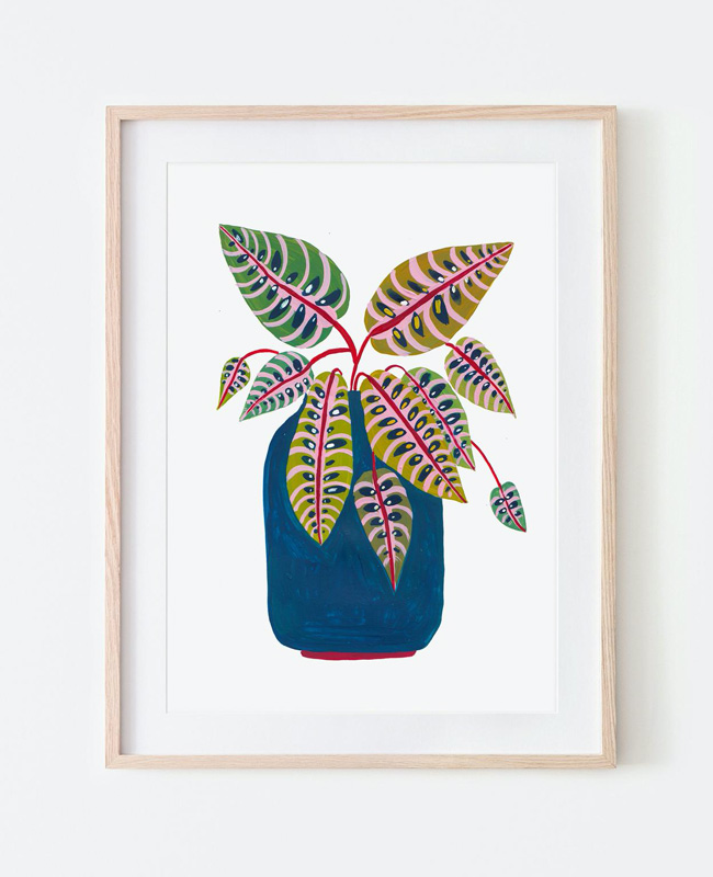 affiche carte vegetale a imprimer