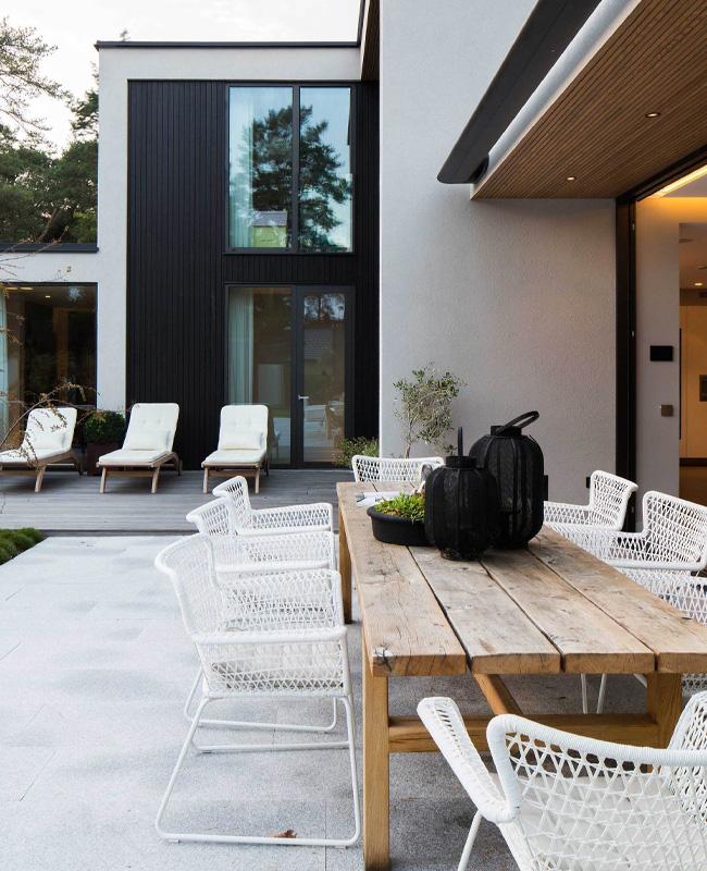 deco terrasse moderne blanc bois