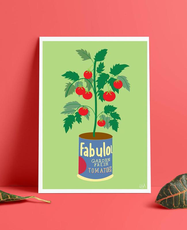 affiche carte vegetale a imprimer tomate