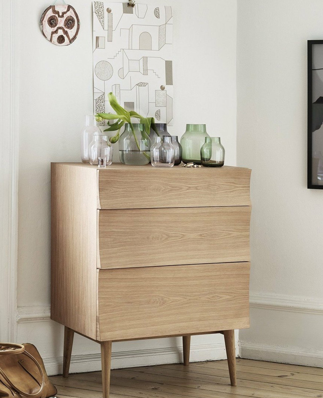 commode scandinave bois
