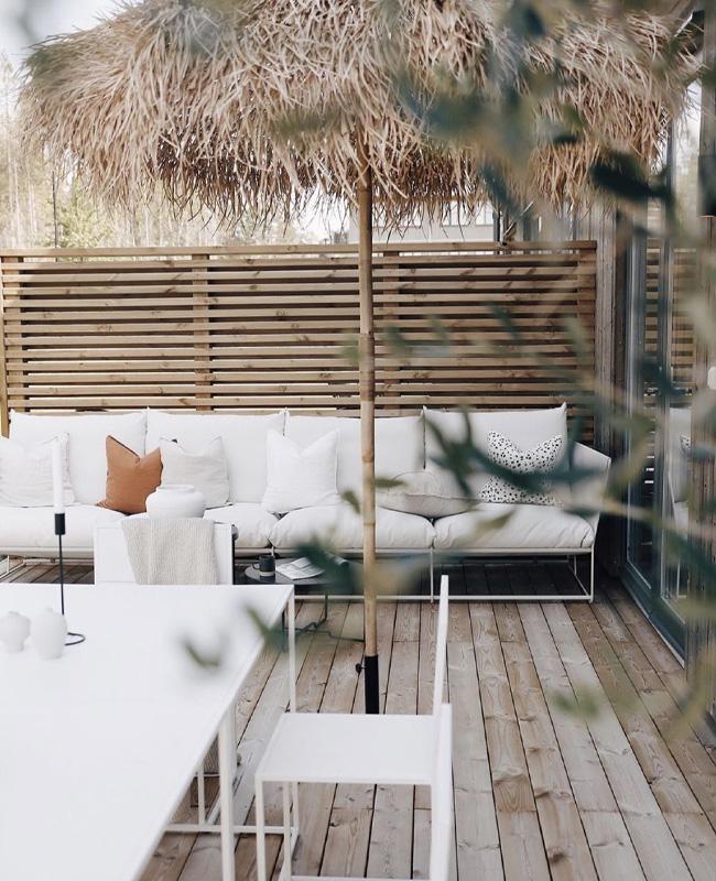 deco terrasse moderne blanc bois naturelle