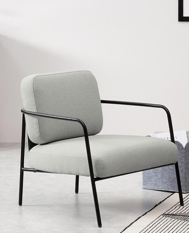 fauteuil gris noir moderne
