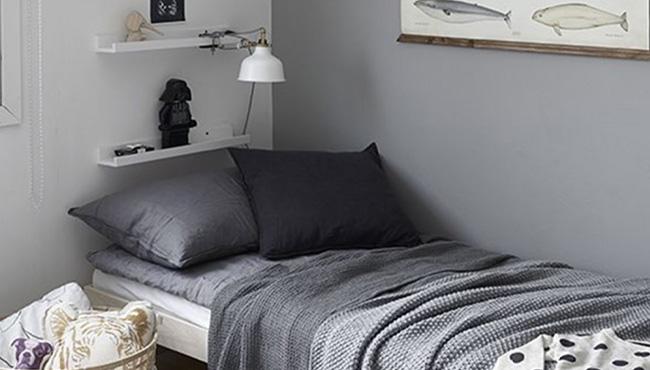 deco chambre ado gris blanc