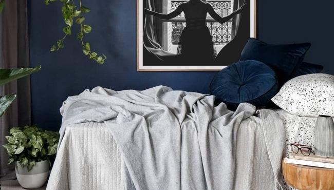 deco chambre gris bleu