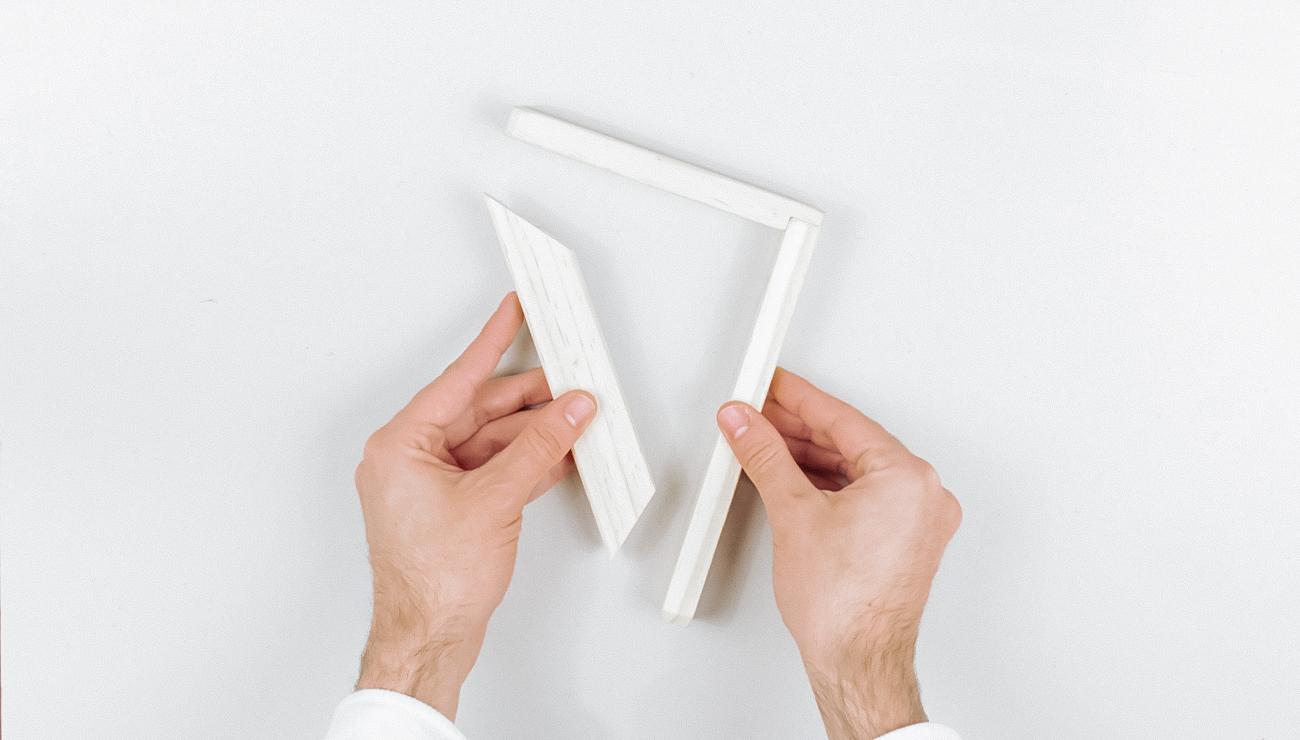 applique cannage Ikea Hack corbeille klyfta étape 1