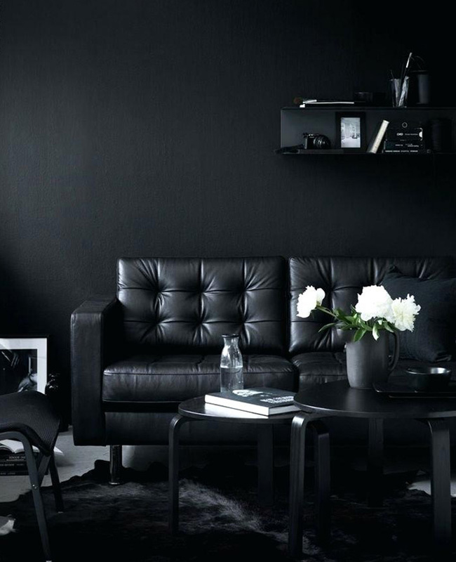 deco salon moderne noir total look