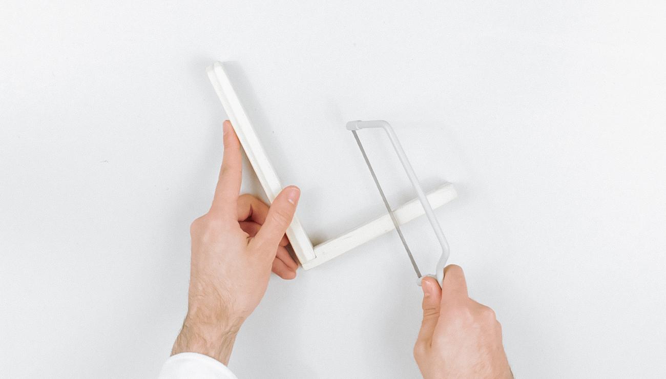 applique cannage Ikea Hack corbeille klyfta étape 2