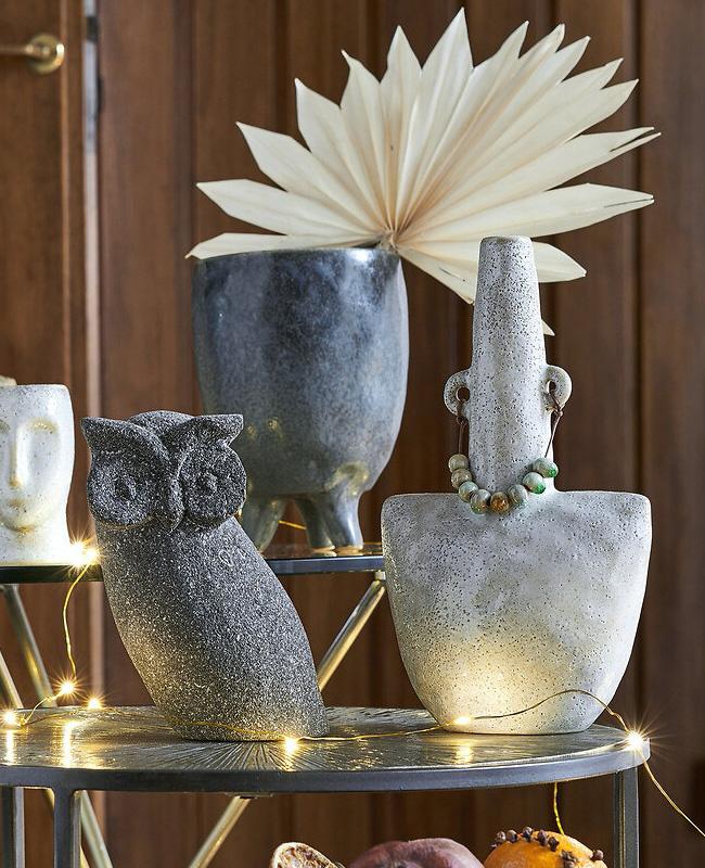 vase poterie artisanale gris