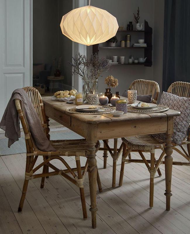 table salle a manger rustique deco cosy