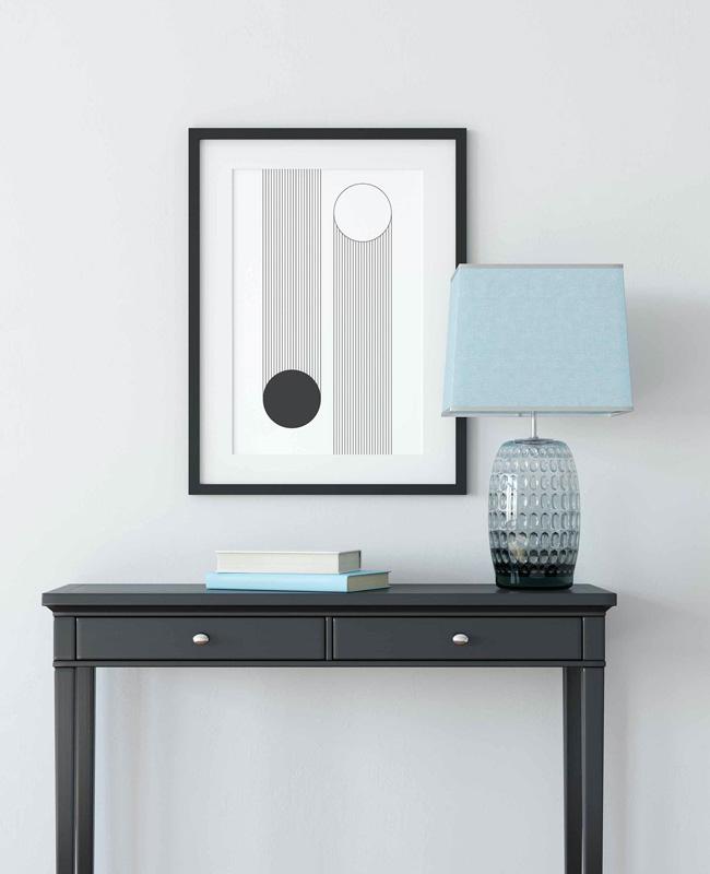 affiche graphique trait noir