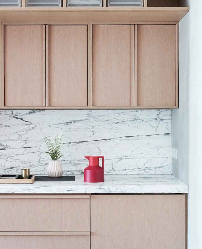 deco cuisine marbre bois japonais