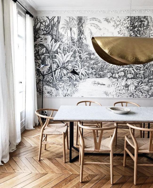 papier peint panoramique deco salle a manger