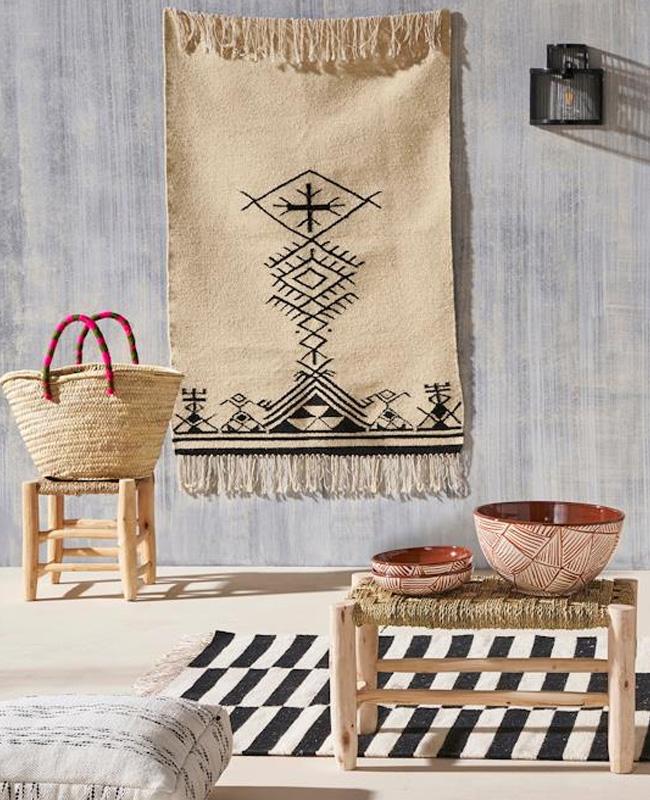 tapis deco murale boheme ethnique
