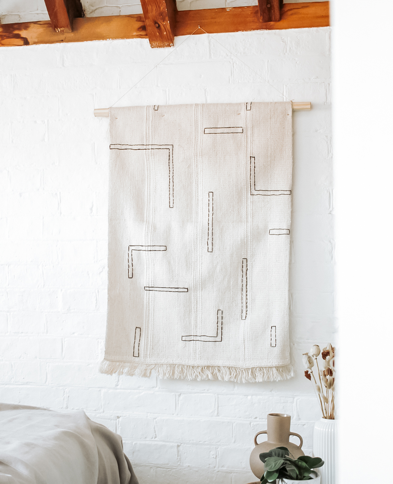 tapis deco murale broderie Ikea Hack tuto diy