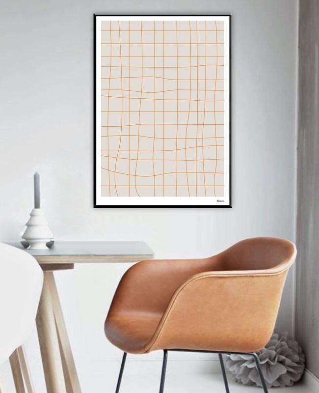affiche graphique ligne terracotta