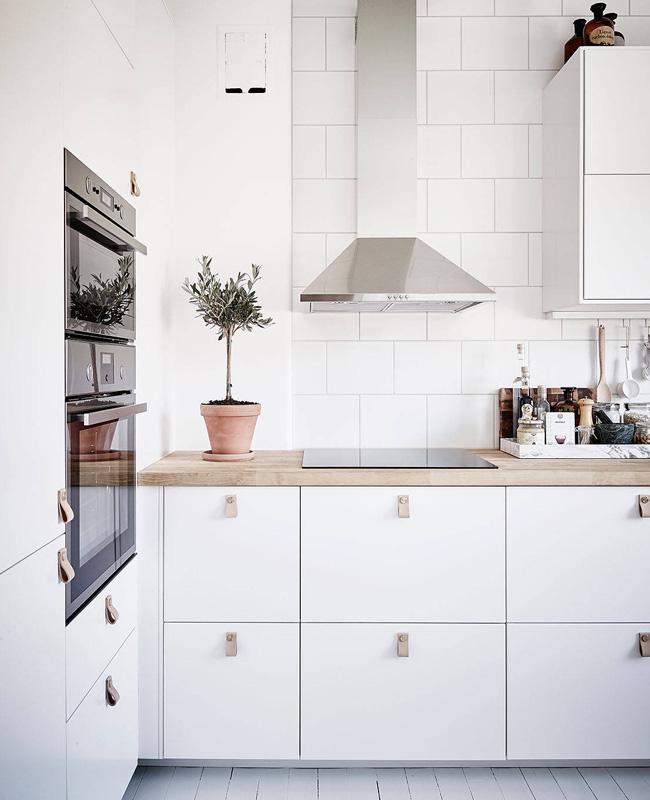 deco cuisine scandinave blanc bois carrelage
