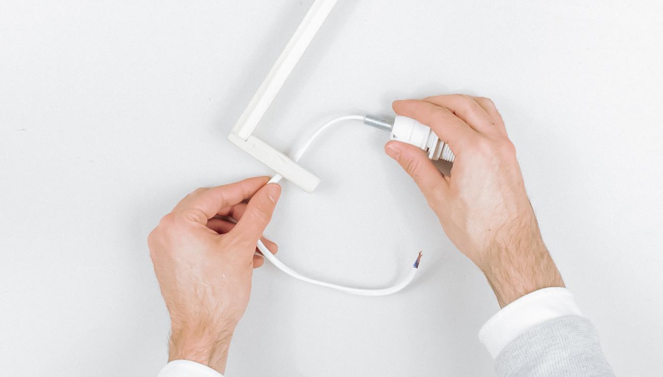 applique cannage Ikea Hack corbeille klyfta étape 4
