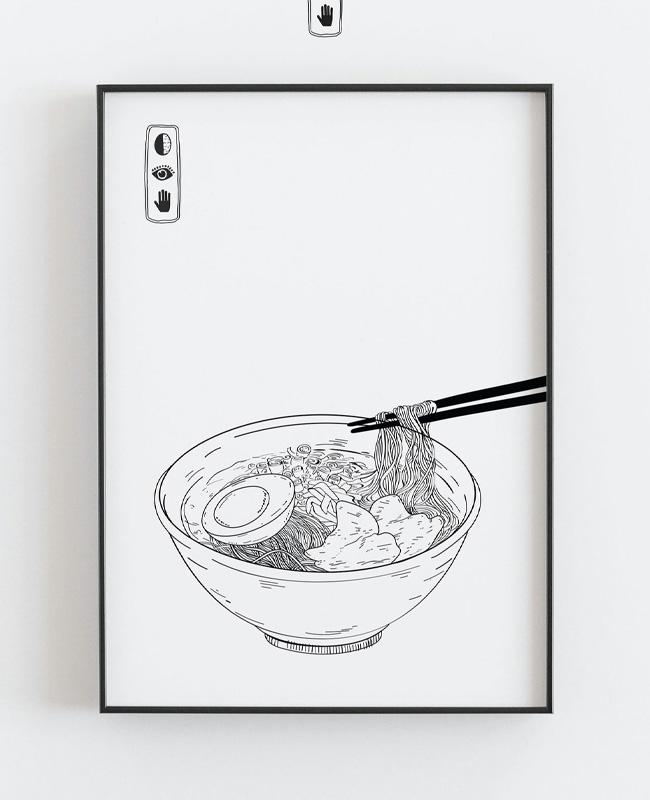 printable affiche illustration japonaise a imprimer ramen