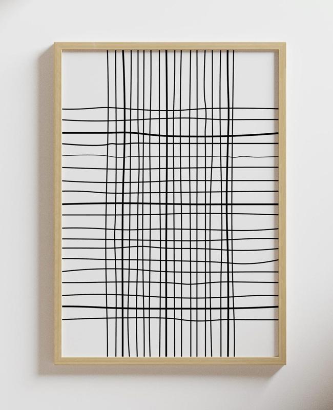 affiche graphique lignes noires