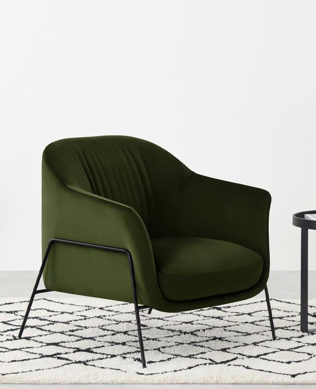 fauteuil moderne vert