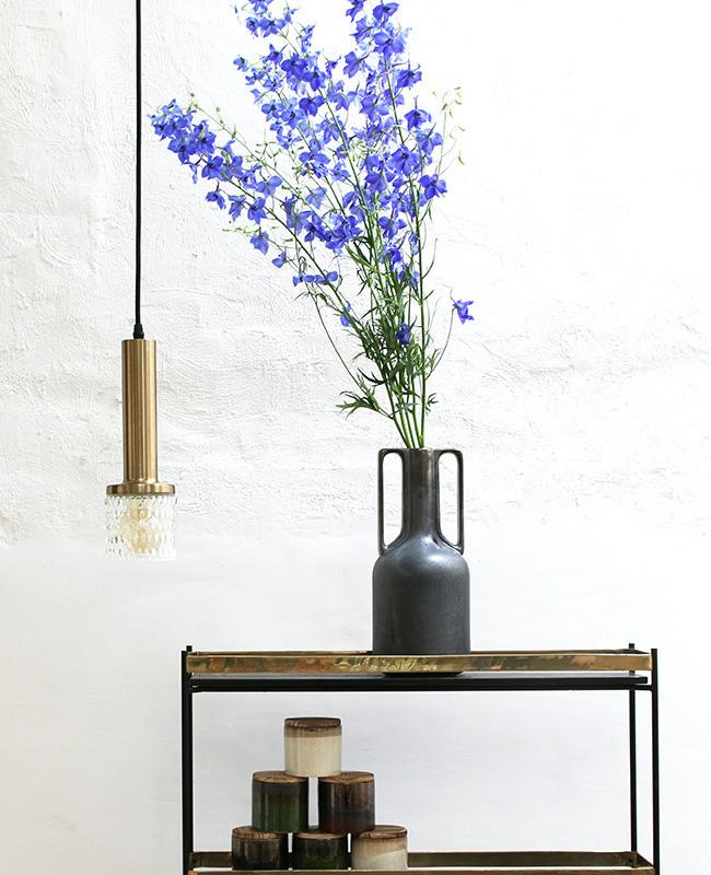 vase poterie artisanale anse noir