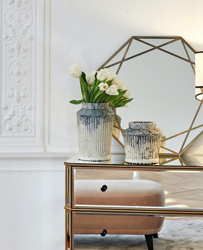 vase rainure emaille