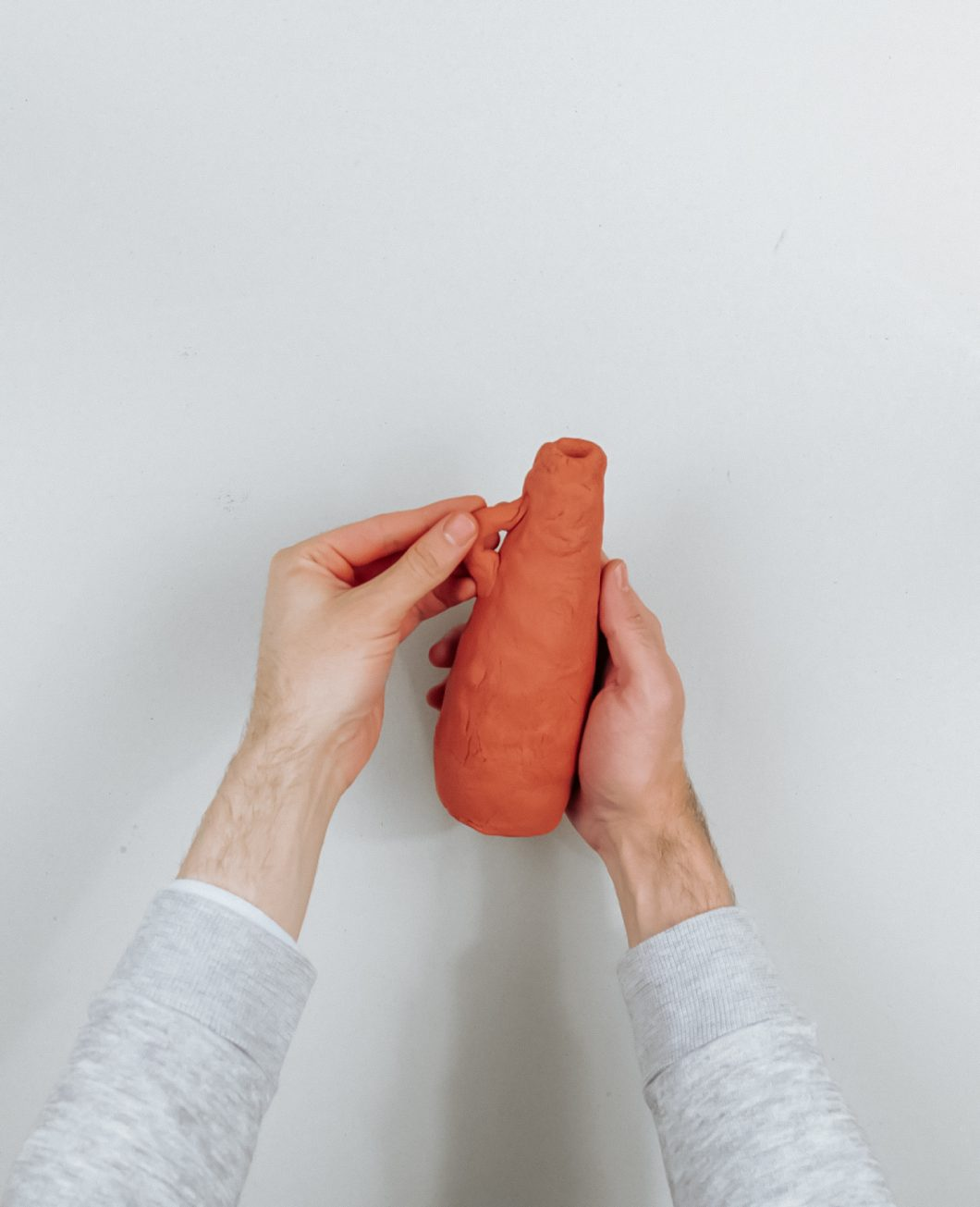bouteille poterie terracotta pate fimo tuto diy etape 4