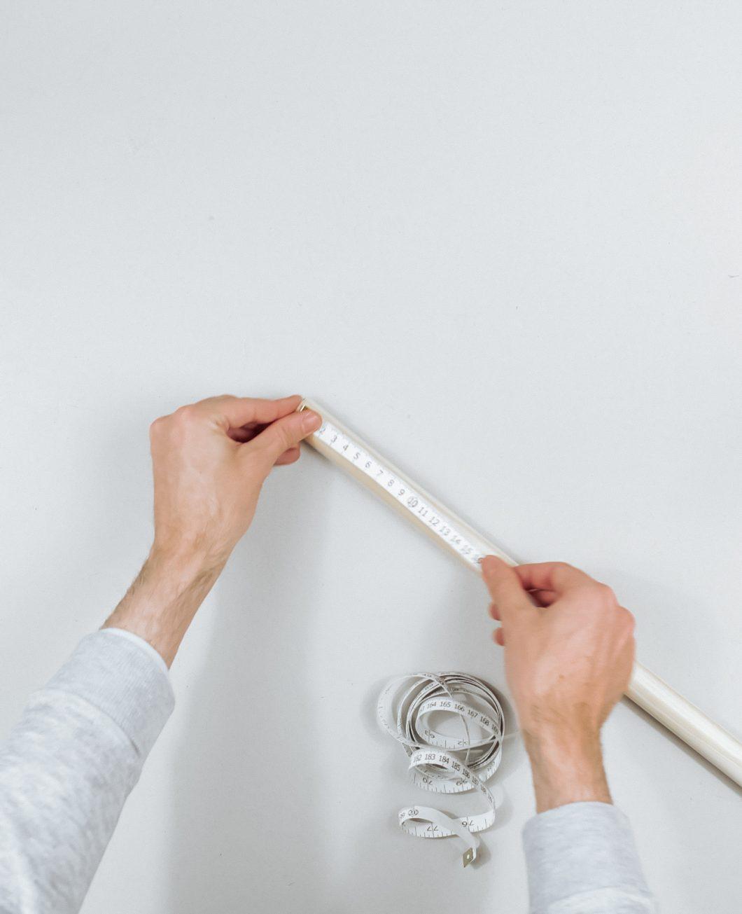 tapis deco murale boheme broderie Ikea Hack tuto dia etape 4