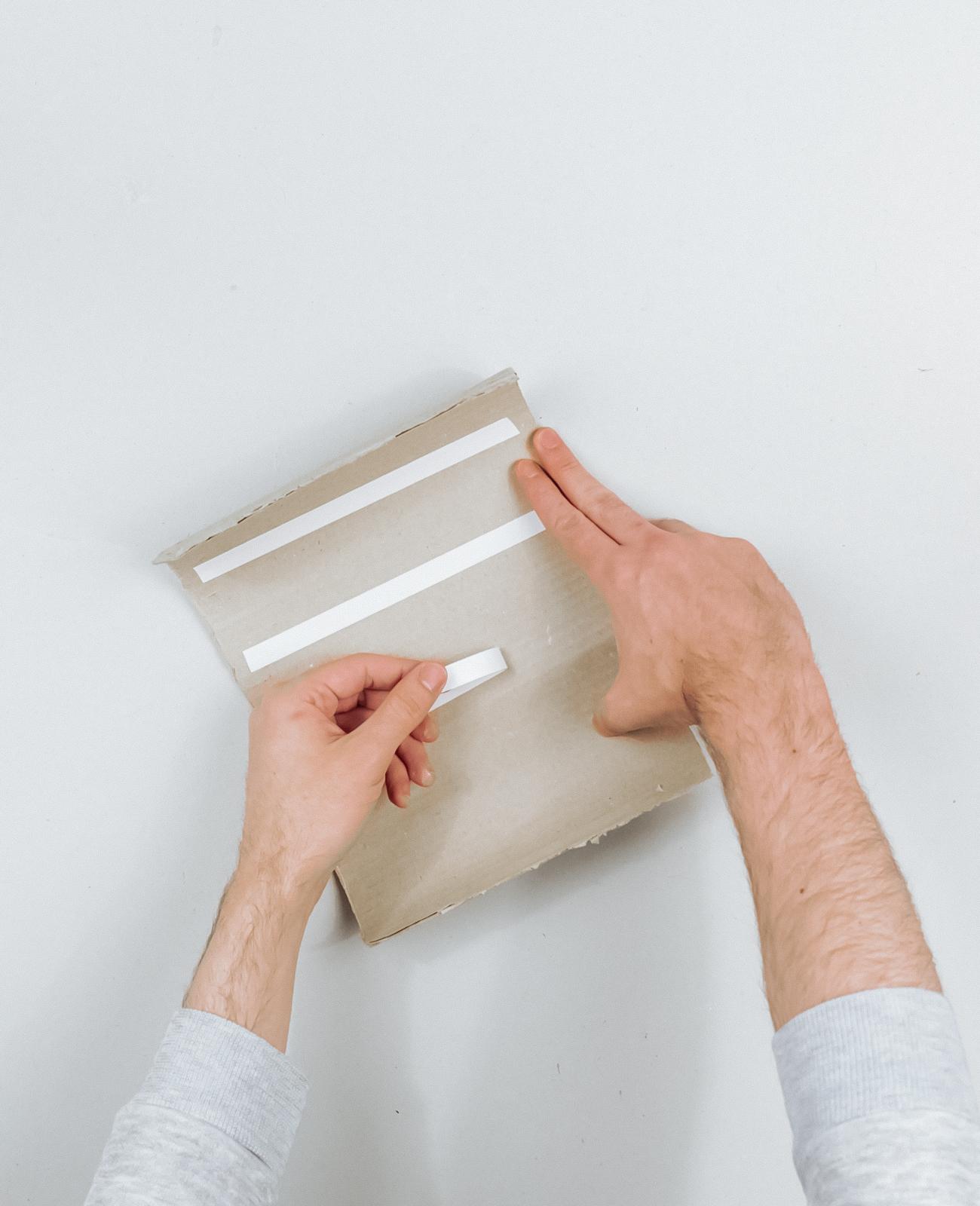 vase carton strie gaufre terracotta tuto diy etape 5