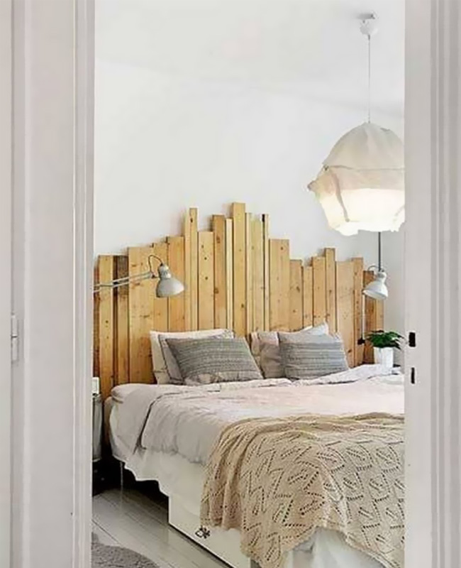 deco chambre bois tete de lit