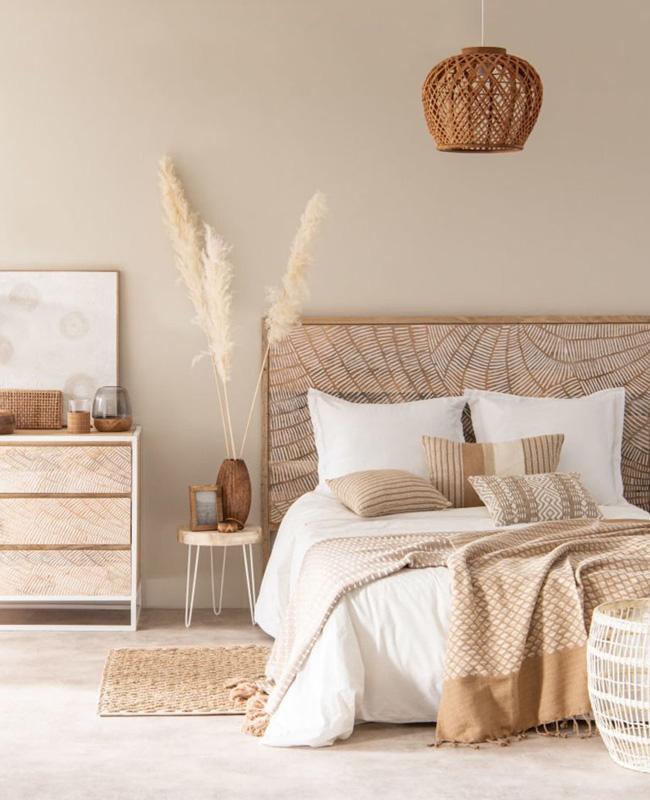 deco nature beige chambre