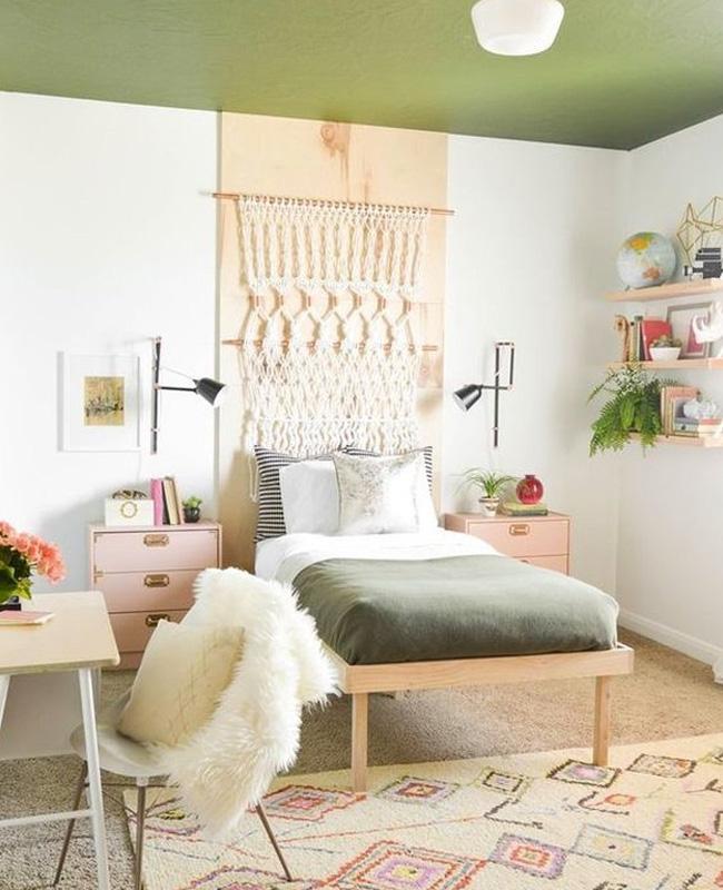 deco chambre ado boheme vert rose