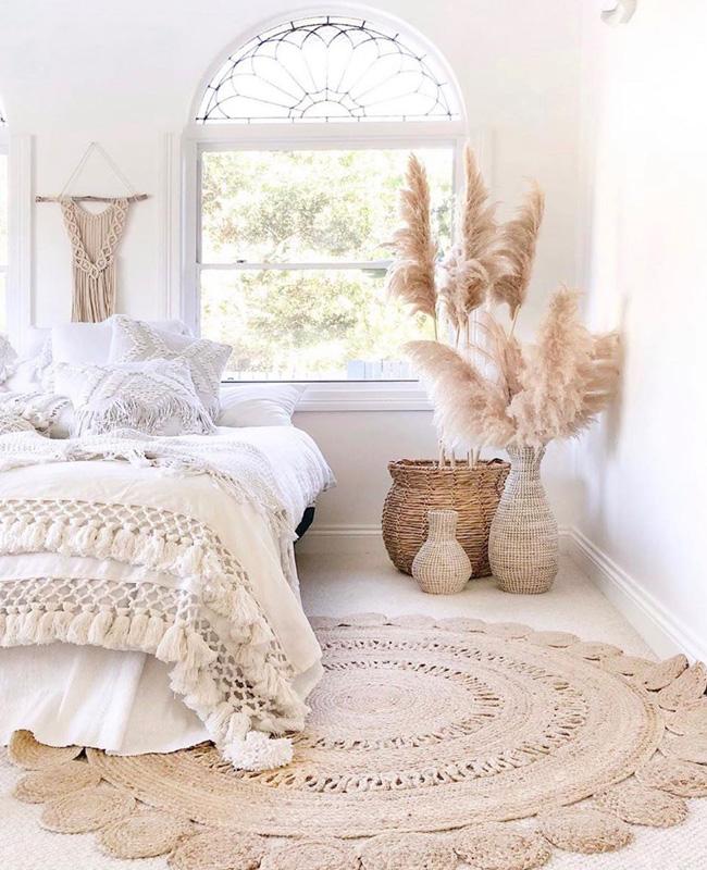 deco nature beige chambre boheme