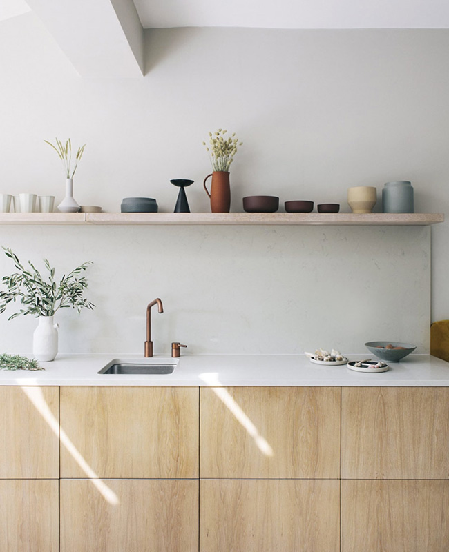 deco cuisine credence marbre blanc
