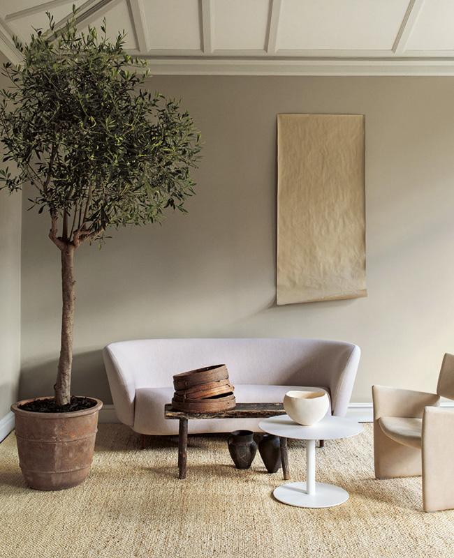 deco nature beige salon moderne