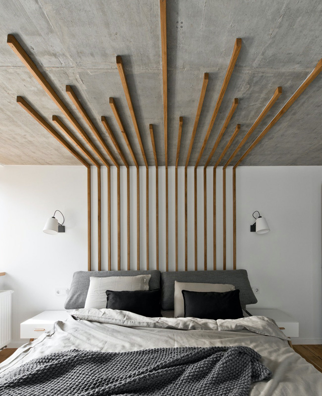 deco chambre tasseau bois tete de lit