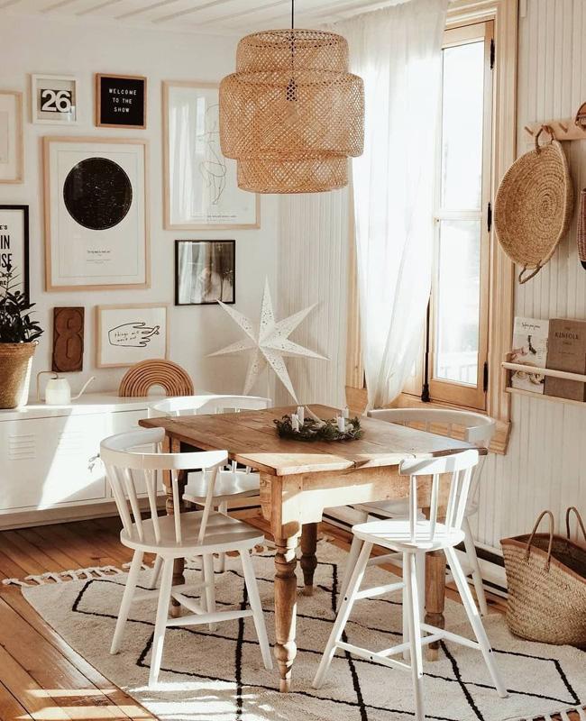 deco nature beige bois salle a manger