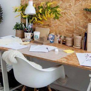 deco bureau blanc bois