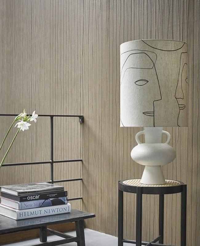 lampe texture blanche