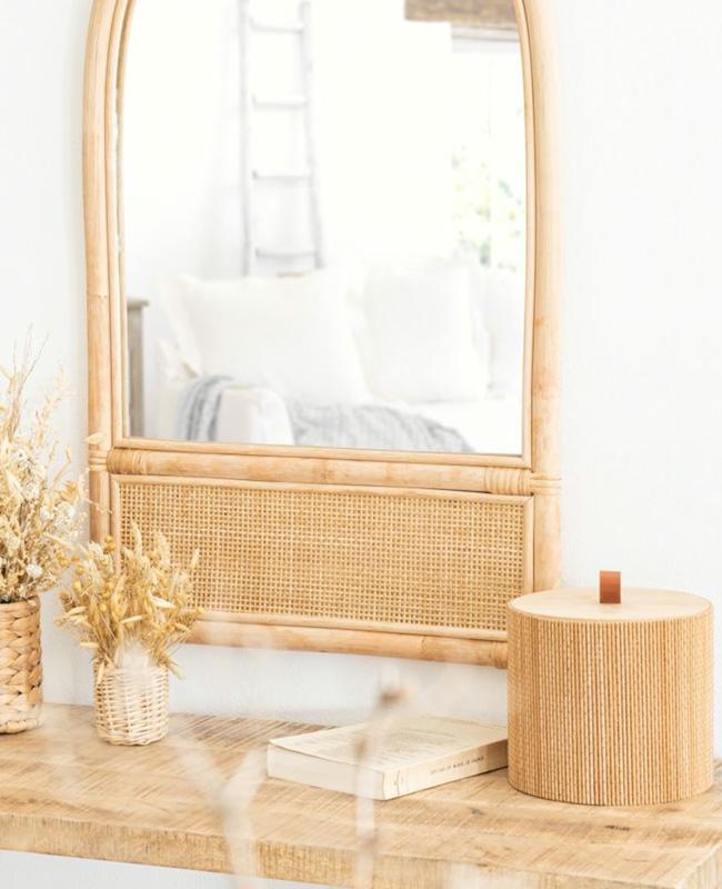 boite ronde japonaise bambou