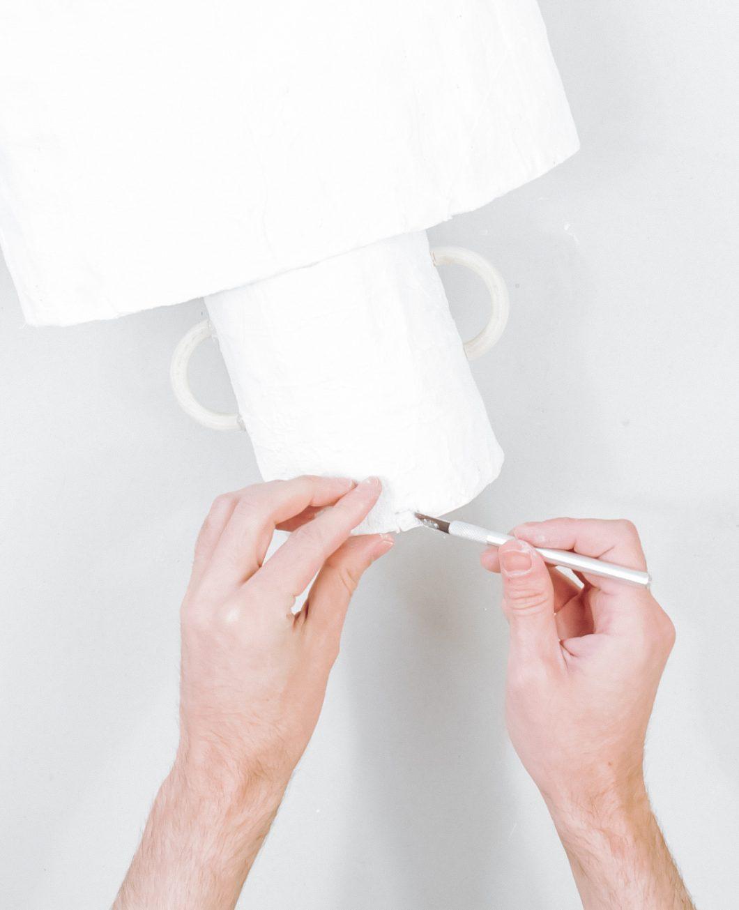 lampe bande de plâtre ikea hack tuto etape 8
