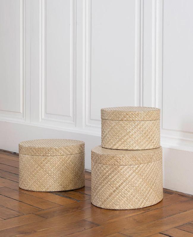 boite ovale japonaise bambou