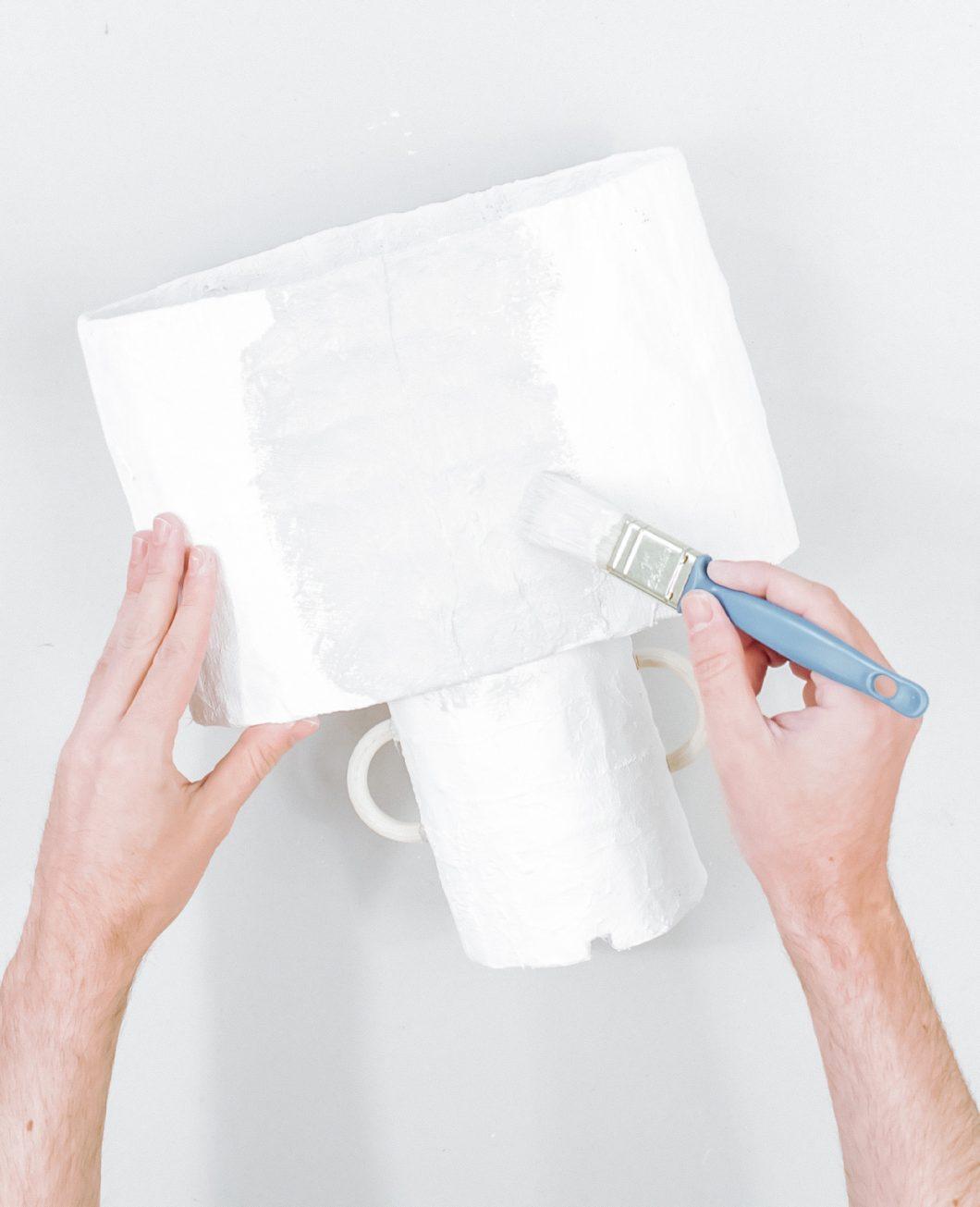 lampe bande de plâtre ikea hack tuto etape 9