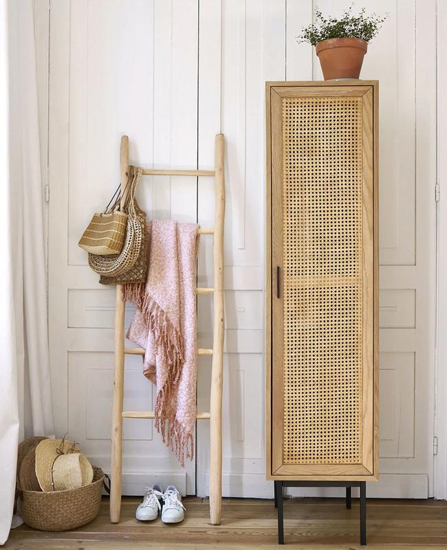 armoire cannage 1 porte