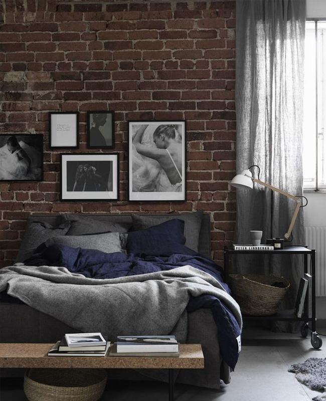 deco chambre industrielle meuble metal noir