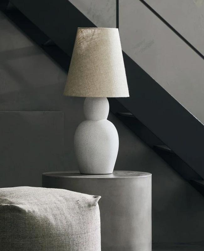 lampe ciment gris