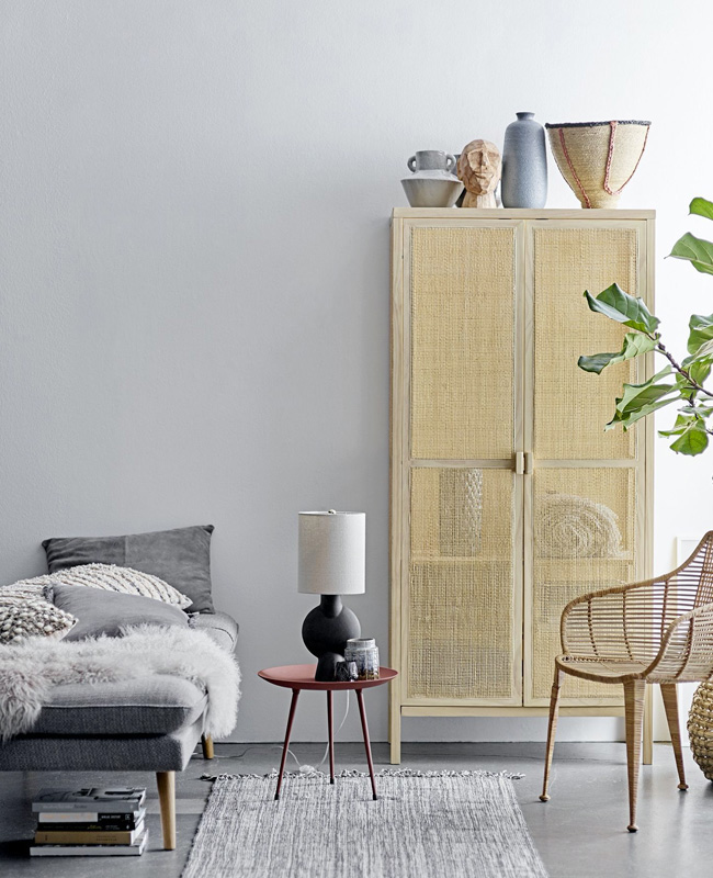 armoire cannage naturelle