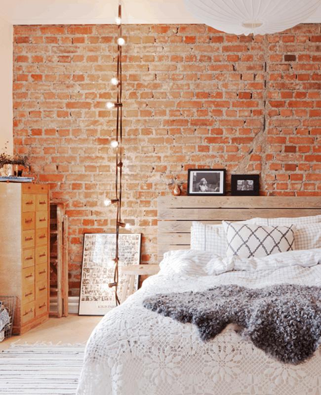 tete de lit palette deco chambre industrielle