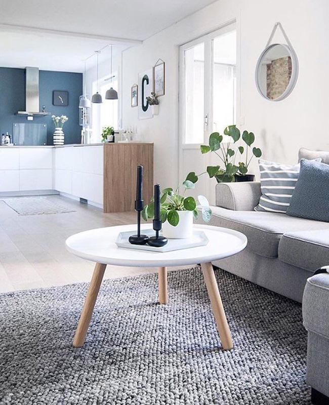 table basse blanc bois ronde